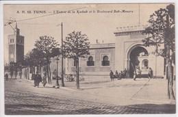 TUNISIE TUNIS L'entrée De La Kasbabet Le Boulevard Bab Menara - Túnez