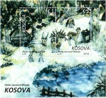 Kosovo Stamps 2019. National Park Blinaja. Fauna. Deer. Block MNH - Kosovo