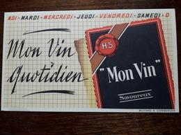 L18/6 Buvard. Mon Vin. - Food