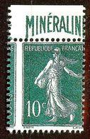 SUPERBE SEMEUSE N°188A 10c Vert MINERALINE NEUF Sans GOMME Coté 500 Euro (REPRO) - 1906-38 Sower - Cameo