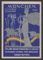 CHESS SCHACH ÉCHECS OLYMPICS OLIMPIAD 1936 GERMANY München - MH Label Vignette Cinderella - Soldier - Estate 1936: Berlino