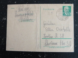 LETTRE ENTIER POSTAL ALLEMAGNE DEUTSCHLAND GERMANY DDR RDA AVEC TYPE PRESIDENT WILHELM PIECK - PLI VERTICAL AU CENTRE - [6] República Democrática