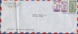 Panama Air Mail F. ICAZA Y Cia, PANAMA 1953 Cover Letra ZÜRICH Switzerland 2x Zwangzuschlagmarken Sports Diskuswerfer - Panamá