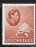 Seychelles 1938-41 KG 15c Tortoise Mint Hinged - Seychellen (...-1976)