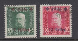 Bosnia Herzegovina 1915 - Michel 93-94 Used - Bosnie-Herzegovine