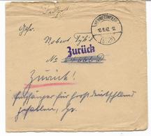 GUERRE WW2-  ZURÜCK- Cachet WEMMETSWEILER 10.8.42 -   -FELDPOST   Voir Scan - Allemagne
