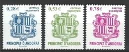 """Andorre Esp. YT 309 A 311 """" Armoiries """" 2005 Neuf** - Neufs"""