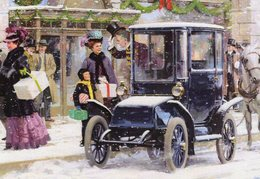 Detroit Electric   -   Art Card By Harry Anderson  -  Carte Postale - Turismo