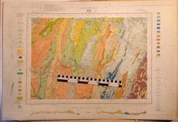 CARTE GEOLOGIQUE De La France, 1/50000e, VIF, Feuille XXXII-35 - épreuve D'impression, MAUVAIS ETAT - Carte Topografiche