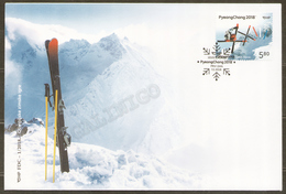 2018 Croatia Kroatien FDC SPORT: Winter Olympic Games - PyeongChang - Winter 2018: Pyeongchang