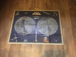 Grande Affiche Journal Spirou La Lune 96 X 73cm état Impec - Affiches