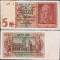 5 REICHSMARK 1942 ALLEMAGNE / GERMANY - P186 - 5 Reichsmark