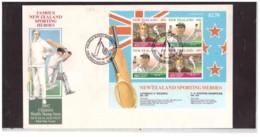 NZFDC255 - WANGANUI   12.8.1992   /  FDC Y.T. Nr.   BF. 85   (  CAT.  A.C.S.  Nr.  HMS 178  ) - Cricket