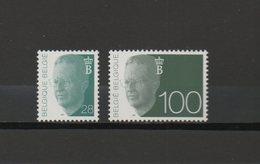 België Nrs. 2473 + 2481 Xx  -  Koning Boudewijn  -  Postprijs - 1990-1993 Olyff