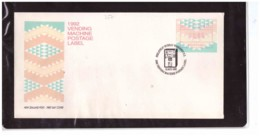 NZFDC257 - WANGANUI   12.8.1992   /  FDC  VENDING MACHINE POSTAGE LABEL  C. 00.45 - FDC