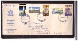 NZFDC259 -  AUCKLAND  27.3.1969  /  FDC  Y.T. Nr.  131/135   ( CAT.  A.C.S. Nr. L32/L36  ) - FDC
