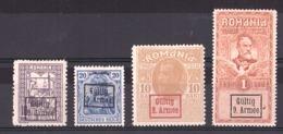 Roumanie - Occupation Allemande - 1917/18 - 9ème Armée - N° 1, 5, 7 Et 9 - Neufs * - Occupations