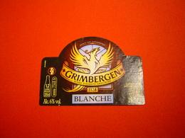 ETIQUETTE BIERE GRIMBERGEN BLANCHE / BELGIQUE - Bière