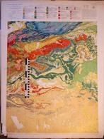 CARTE GEOLOGIQUE Du ROYAUME DU MAROC, 1/500000e, OUARZAZATE - épreuve D'impression - Carte Topografiche