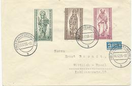 LETTRE 1955 AVEC 3 TIMBRES SERIE 25 JAHRE BISTUM BERLIN - Berlin (West)