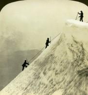 USA Oregon Sommet Du Mont Hood Montagne Ancienne Photo Stereo White 1900 - Stereoscopio