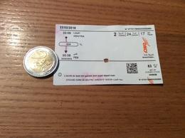 """Ticket De Train ONCF MAROC """"KENITRA - FES"""" (Office National Des Chemin De Fer) - Monde"""