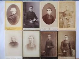 RELIGION - Lot  9 Photographies Anciennes CDV - Prêtre- Curé - Abbé - Religion - Vers 1880 - 1900 -  TBE - Photographs