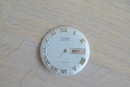 Watches PARTS : DIAL GRUEN PRECISION 17 JEWELS ROMAN DAYDATE* - Color : White - Original Vintage - Swiss Made - Jewels & Clocks