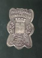 Badge Fête Fédérale De Gymnastique - Dijon 19 Juin 1910 - Militares