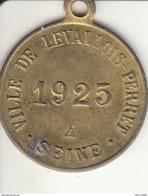 LEVALLOIS-PERRET Taxe Sur Les Chiens : Médaillette De 1925 (chien) De Luxe - France