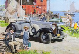 Cadillac Double Phaeton (1930)   -  Art Card By Harry Anderson   -    CPM - Turismo