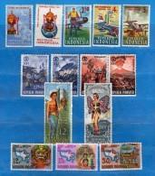Indonesia **- 1967-69 - Six Série Comp. Yvert. 514-15 / 516à518 / 525à528 / 519-543 / 569 à 571. MNH  Vedi Descrizione - Indonesia
