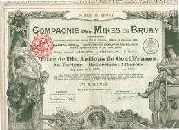 Titre Ancien - Compagnie Des Mines De Bruay - Titre De 1939 - Déco -N° 0.064.052 - Mines