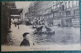 Cpa - 75 - Paris - Les Inondations De Paris En 1910 - Faubourg St Antoine - La Crecida Del Sena De 1910