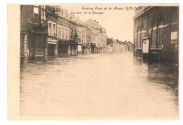 CPA : SERAING Crue De La Meuse 1925-1926 , Le Coin De La Banque - Inondation - Seraing