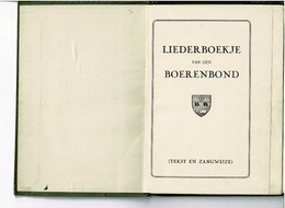 Liederboekje Van Den Boerenbond - Anciens
