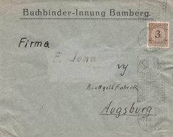 Germany Deutsches Reich BUCHBINDER-INNUNG Slogan 'Des Todes Heinrich II. Des Heiligen' BAMBERG 1924 Cover Brief - Deutschland