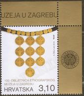 2019 Croatia Kroatien 1v-corner 100th Ann Of The Ethnographic Museum .Women's Decoration - Disfraces