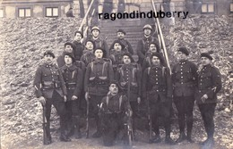 CPA PHOTO - POLOGNE - TESCHEN -CIESZYN - MILITARIA - 15è BCA QUARTIER ST CHARLES JZOLIRE Conflit POLOGNE TCHECOSL 1920 - Pologne