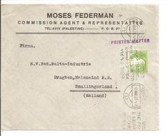 Cover TEL AVIV 1.3.29 Cancel:Visit Palestine & Near East Exhibition 1929 RR ! To Holland - Palestine