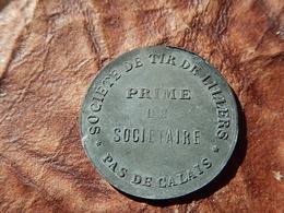 JETON MONNAIE NECESSITE  1 FRANC PRIME SOCIETE TIR LILLERS  PAS DE CALAIS - Monétaires / De Nécessité