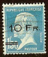 SUPERBE POSTE AERIENNE N°4 Pasteur Oblitéré Coté 12 500 € SURCHARGE MODERNE - Airmail
