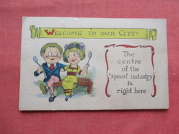 Welcome To Our City   The Centre Of The  Spoon Industry Is Right Here   Ref 3196 - Couples