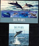 PALAU, 2018,MNH,DOLPHINS, SHEETLET+SS, HIGH FV - Delfini