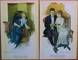 Lot De 2 Cpa ,  Illustrateur, COUPLE  AMOUREUX , 2 OLD PC .  REINTHAL & NEWMAN  LOVERS THE SPOILS OF WAR ARTIST SIGNED - Illustrateurs & Photographes