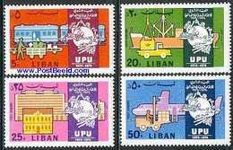 LEBANON, 1974 UPU Centenary 4v Mnh - Líbano