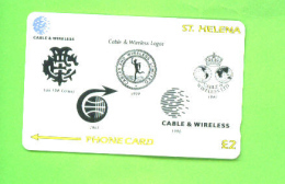 ST HELENA - Magnetic Phonecard/Cable And Wireless Logos (Mint/Unused) - St. Helena Island