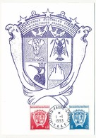 TAAF - Carte Maximum - 0,20 Et 0,30 Armoiries - Alfred Faure Crozet - 1/01/1993 - FDC