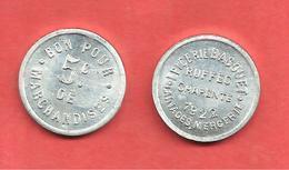 * EPICERIE BAGOUET * LAINAGES MERCERIE , RUFFEC CHARENTE 1922 , BON Pour 5c De MARCHANDISES - Monetary / Of Necessity