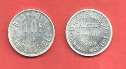 * EPICERIE BAGOUET * LAINAGES MERCERIE , RUFFEC CHARENTE 1922 , BON Pour 10c De MARCHANDISES - Monetary / Of Necessity